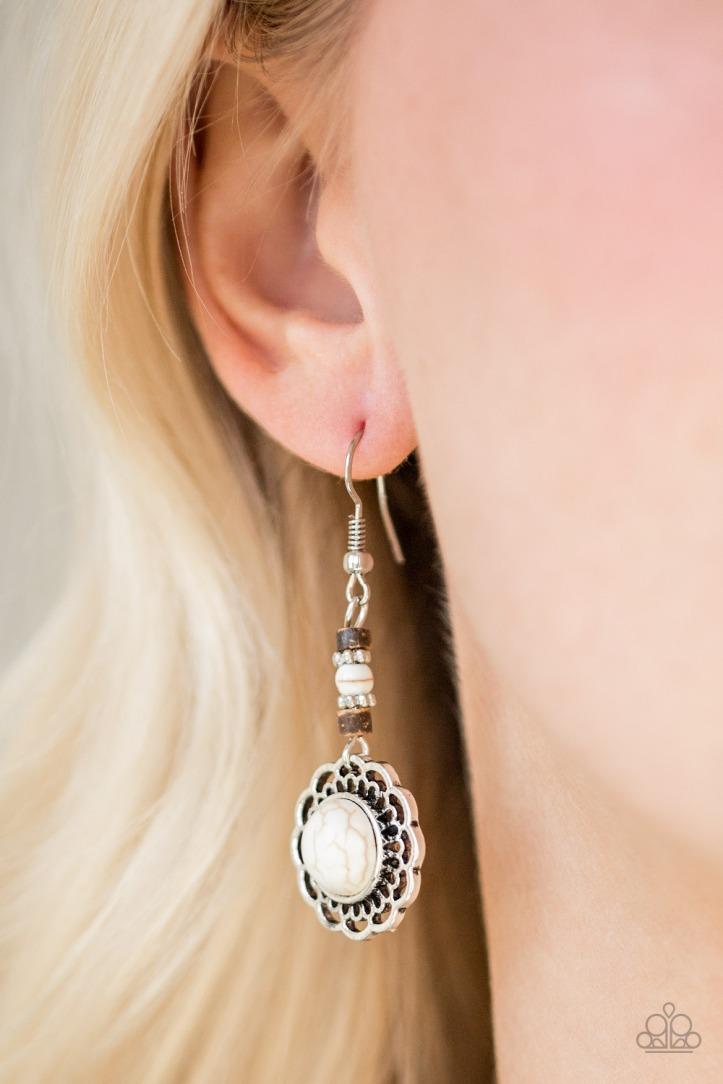 Desert Bliss - White Earrings $5 www.my-bling.com