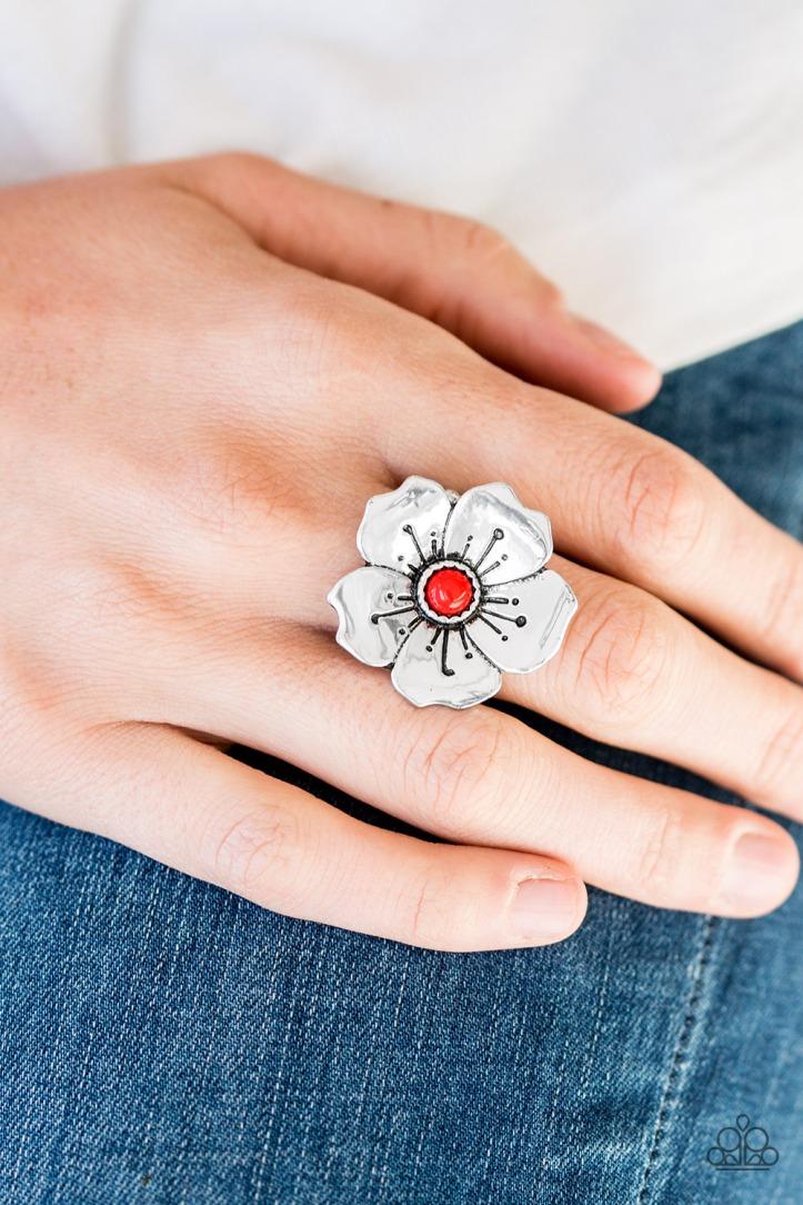 Boho Blossom - Red Ring $5 my-bling.com