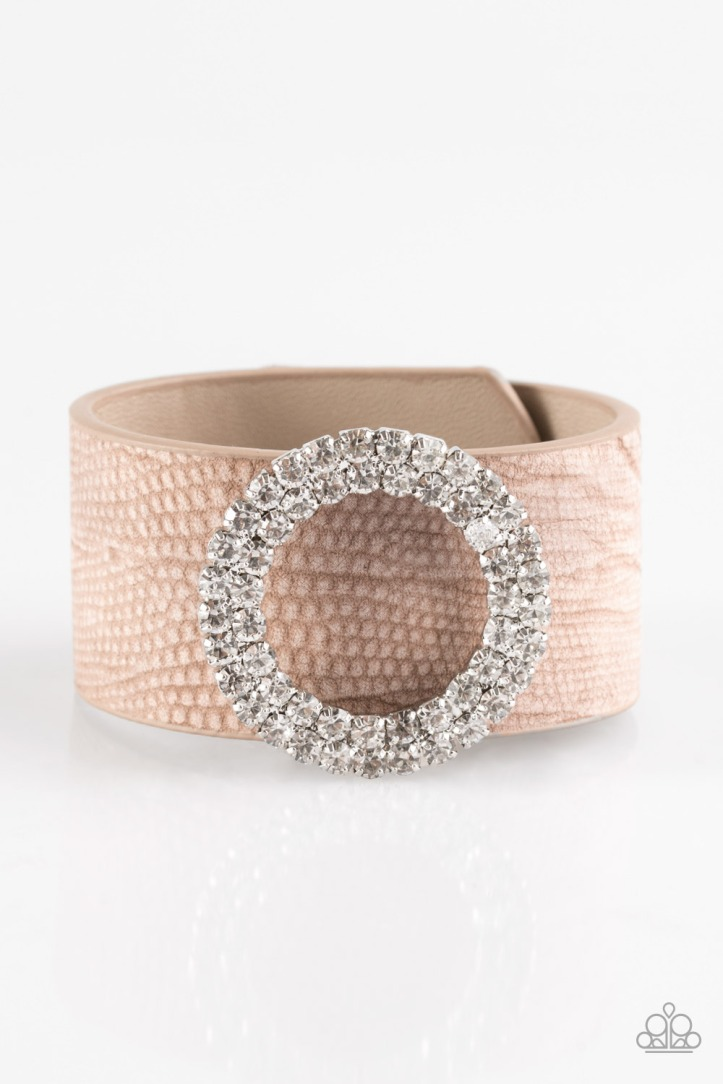 Ring in the Bling Leather and Rhinestone Bracelet $5 www.my-bling.com