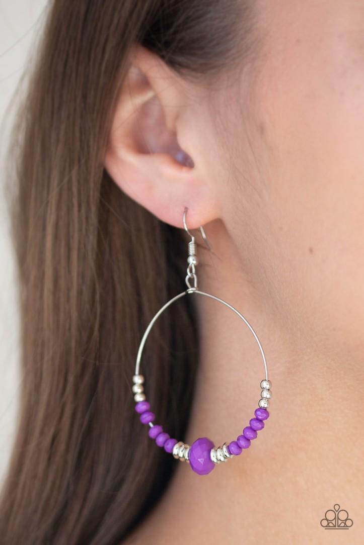 Retro Rural Purple Earrings $5 www.my-bling.com