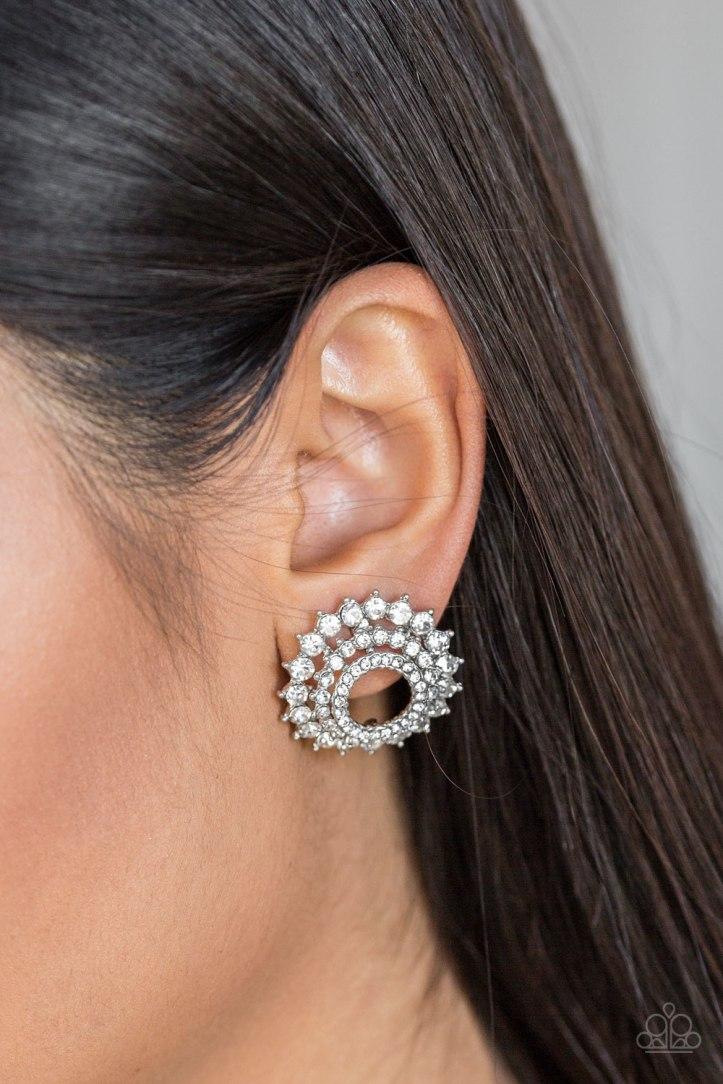 Buckingham Beauty - White Earrings $5 my-bling.com