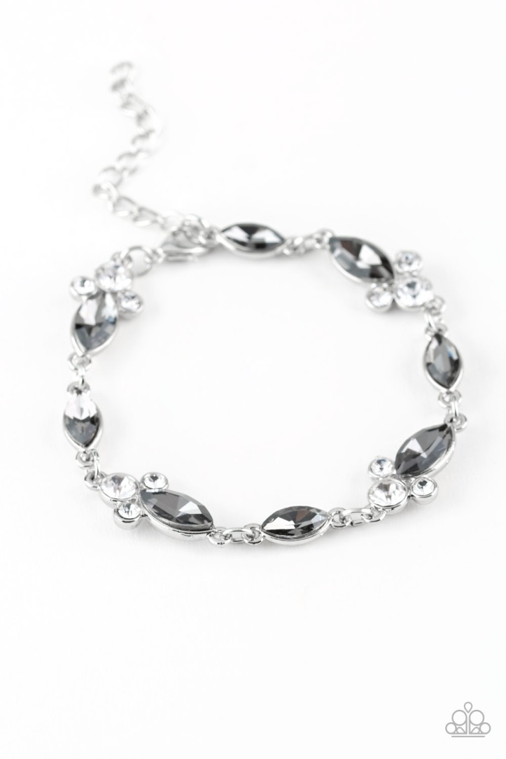 At Any Cost - Silver and Rhinestone Bracelet $5.00 www.my-bling.com