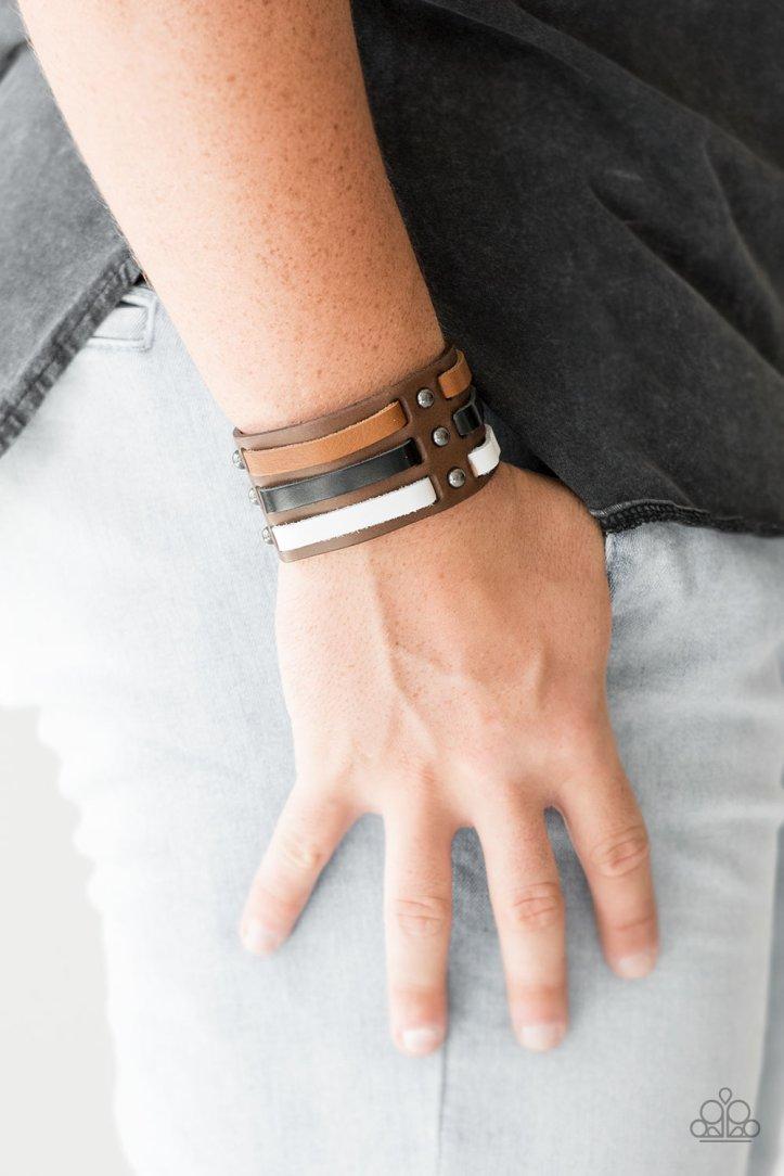 Grizzly Ground Leather Bracelet $5 www.my-bling.com