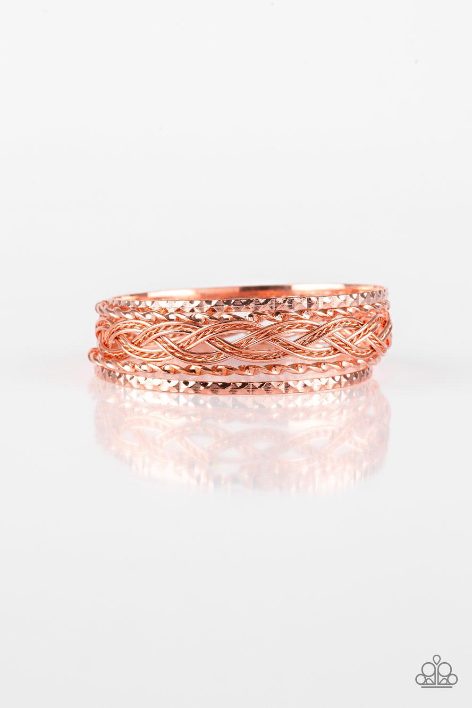 Copper Bangle Set of 5 Bracelets $5 www.my-bling.com