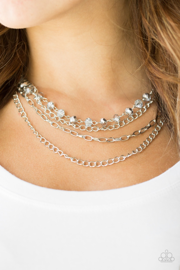 Extravagant Elegance Silver Necklace $5 www.my-bling.com