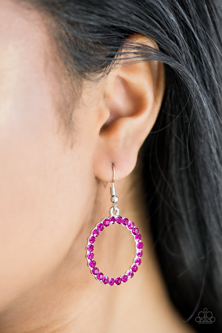 Bubblicious - Pink Earrings by Paparazzi my-bling.com $5