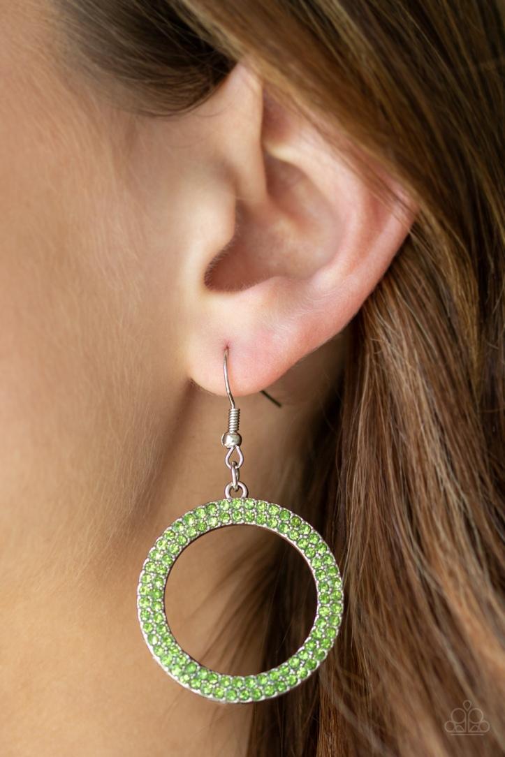 Bubbly Babe Green Rhinestone Earrings $5 www.my-bling.com