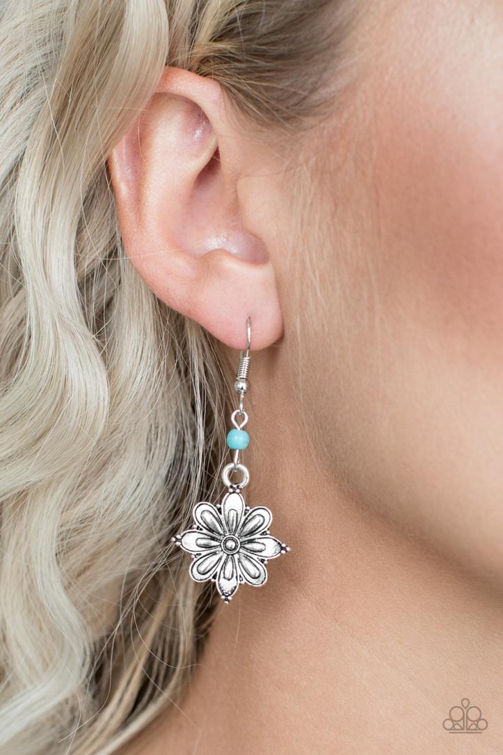 Cactus Blossom Blue Earrings $5 my-bling.com