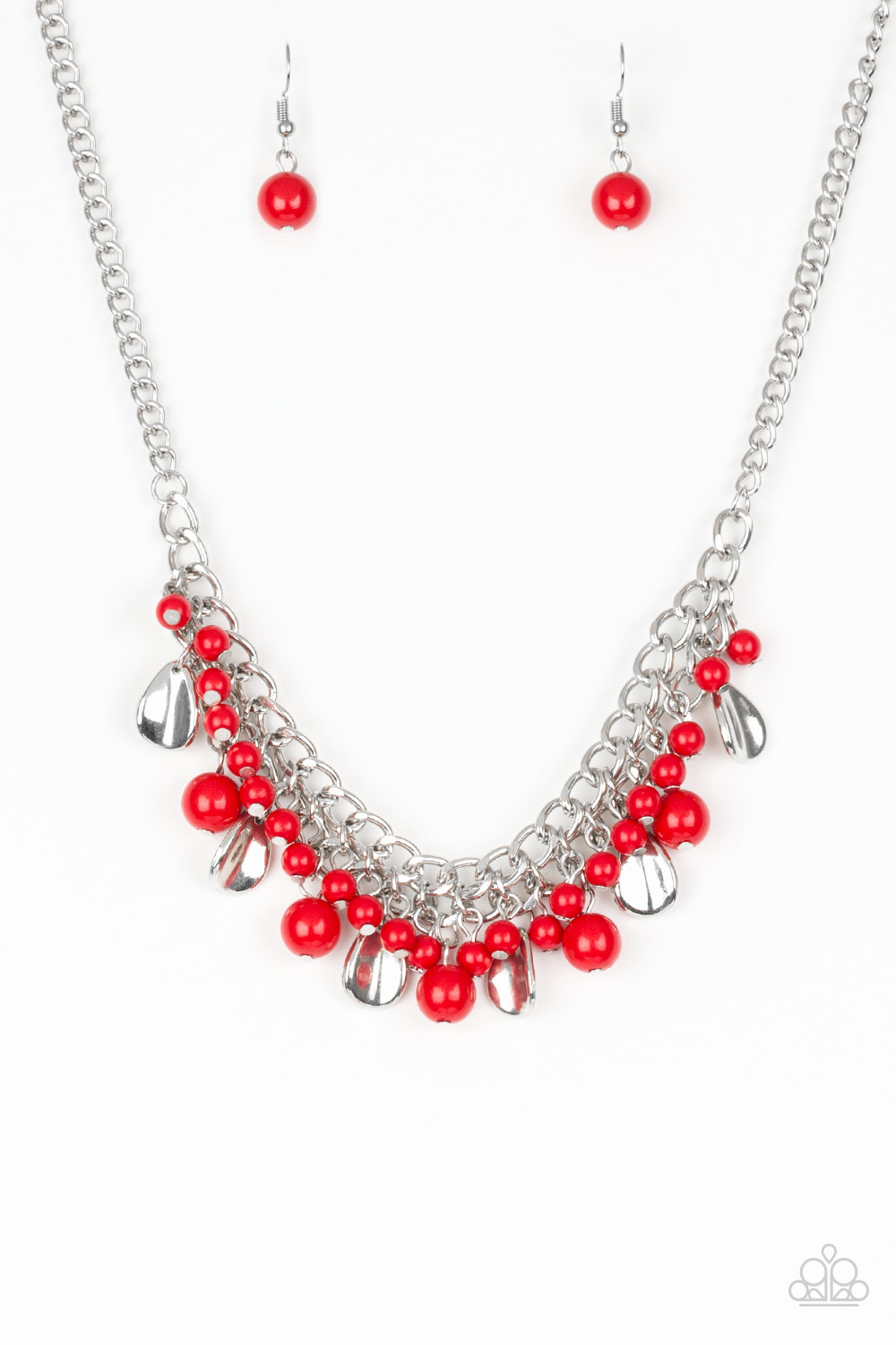 Summer Showdown - Red Necklace $5 my-bling.com Gorgeous Red and Silver dangle necklace.
