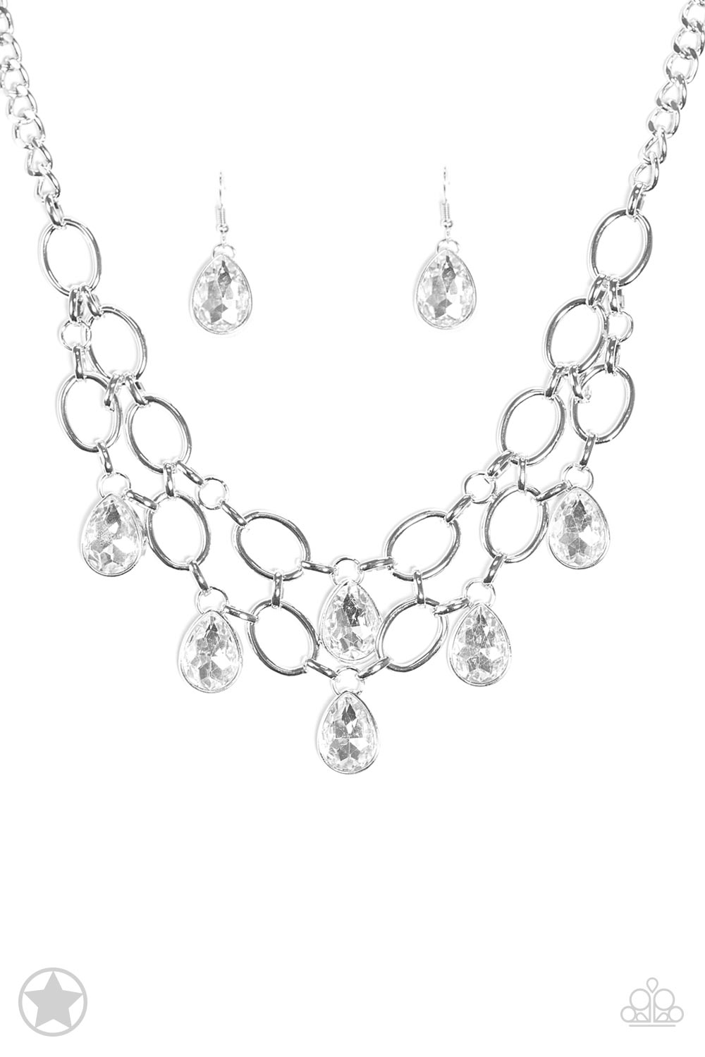 Show-Stopping Shimmer White Teardrop Necklace $5.00 www.my-bling.com