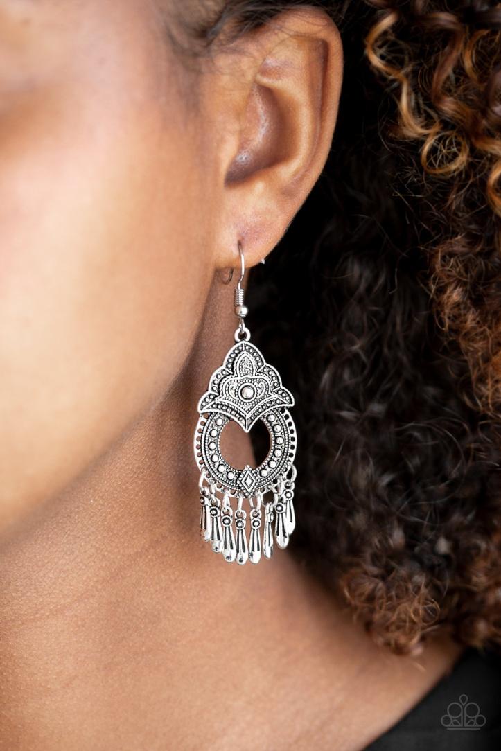 New Delhi Native Silver Earrings $5 my-bling.com