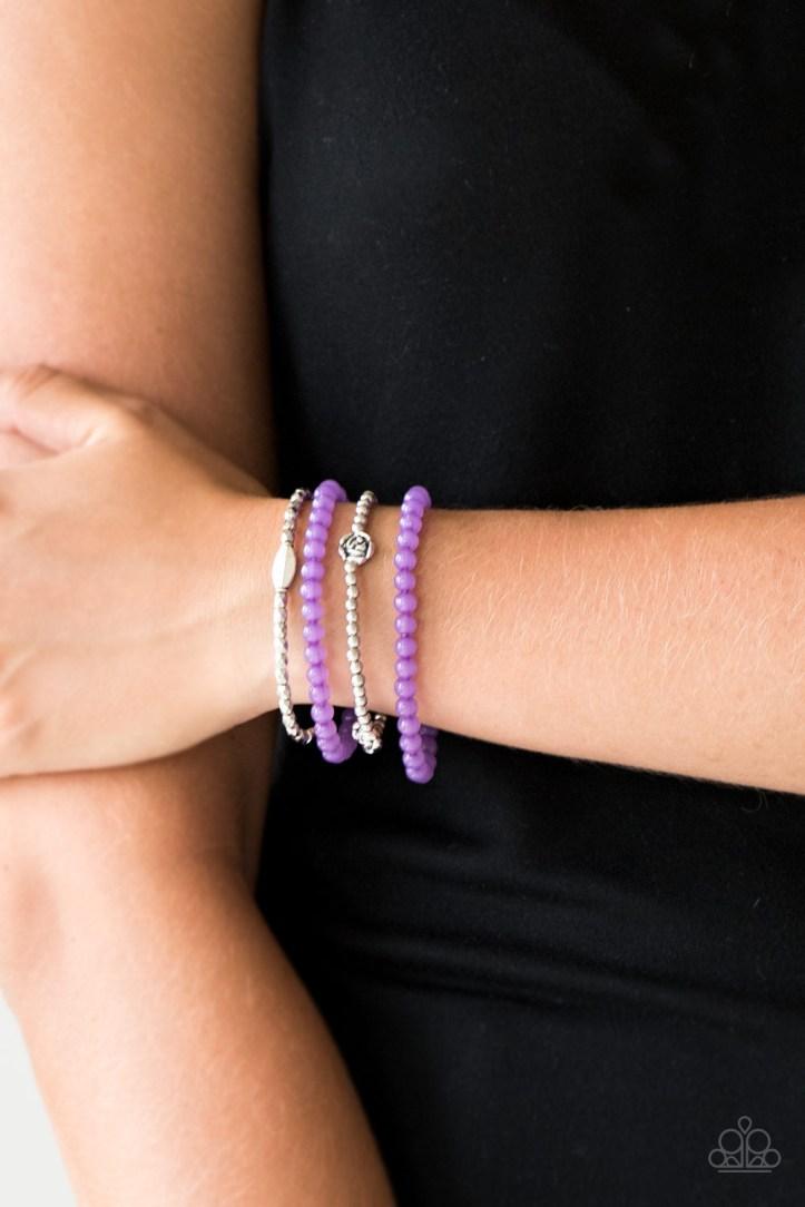 Blooming Buttercups Purple Set of 4 Bracelets $5 www.my-bling.com