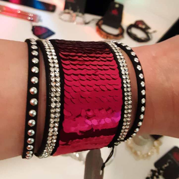 Hot Pink Sequin Mermaid Bracelet from Paparazzi