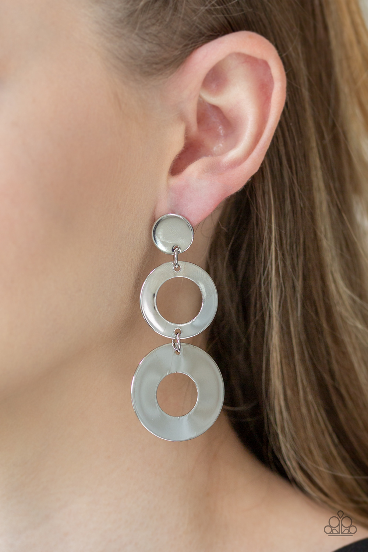 Pop Idol Silver Earrings by Paparazzi Accessories $5 www.my-bling.com