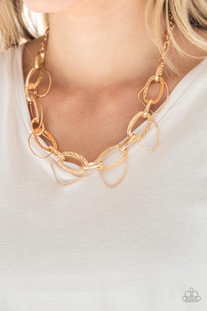 Very Avant-Garde - Gold Necklace by Paparzzi $5.00 www.my-bling.com