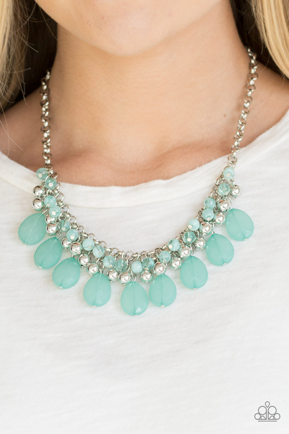 Trending Tropicana - Green Necklace by Paparazzi $5.00 www.my-bling.com