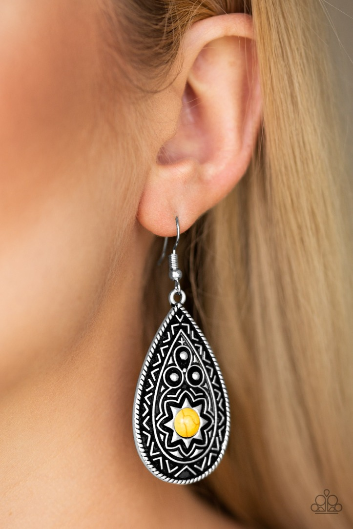 Summer Sol - Yellow Earrings by Paparazzi $5.00 www.my-bling.com