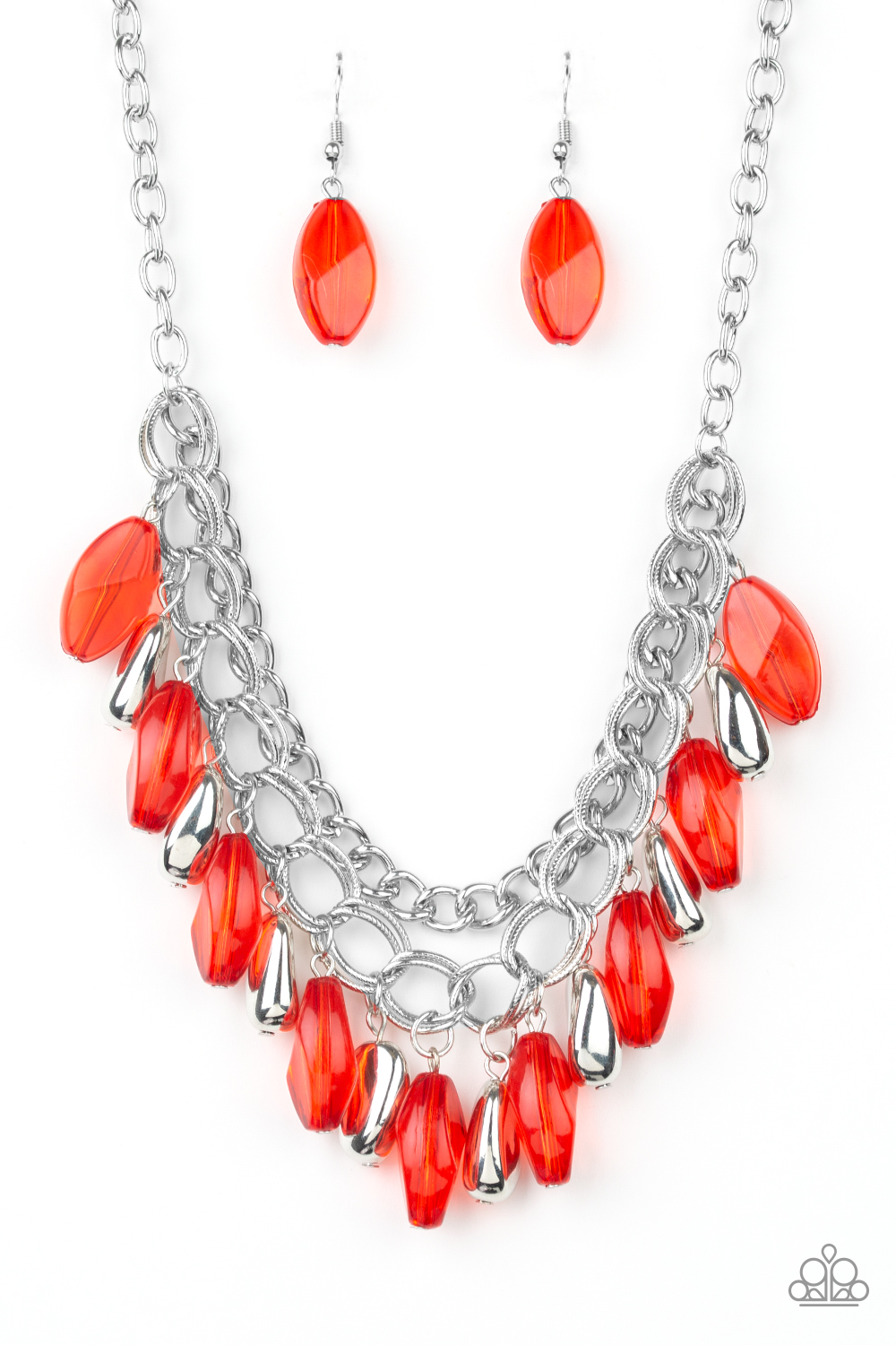 Spring Daydream - Red Necklace $5.00 www.my-bling.com