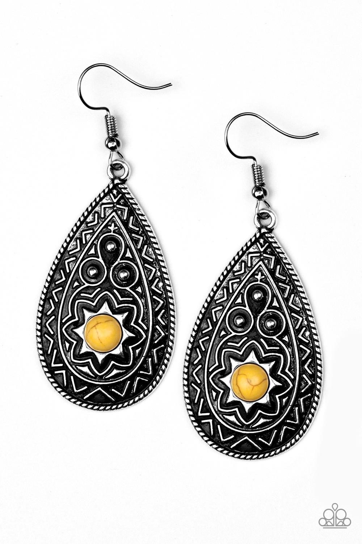 Summer Sol - Yellow Earrings by Paparazzi $5.00 www.my-bling.com