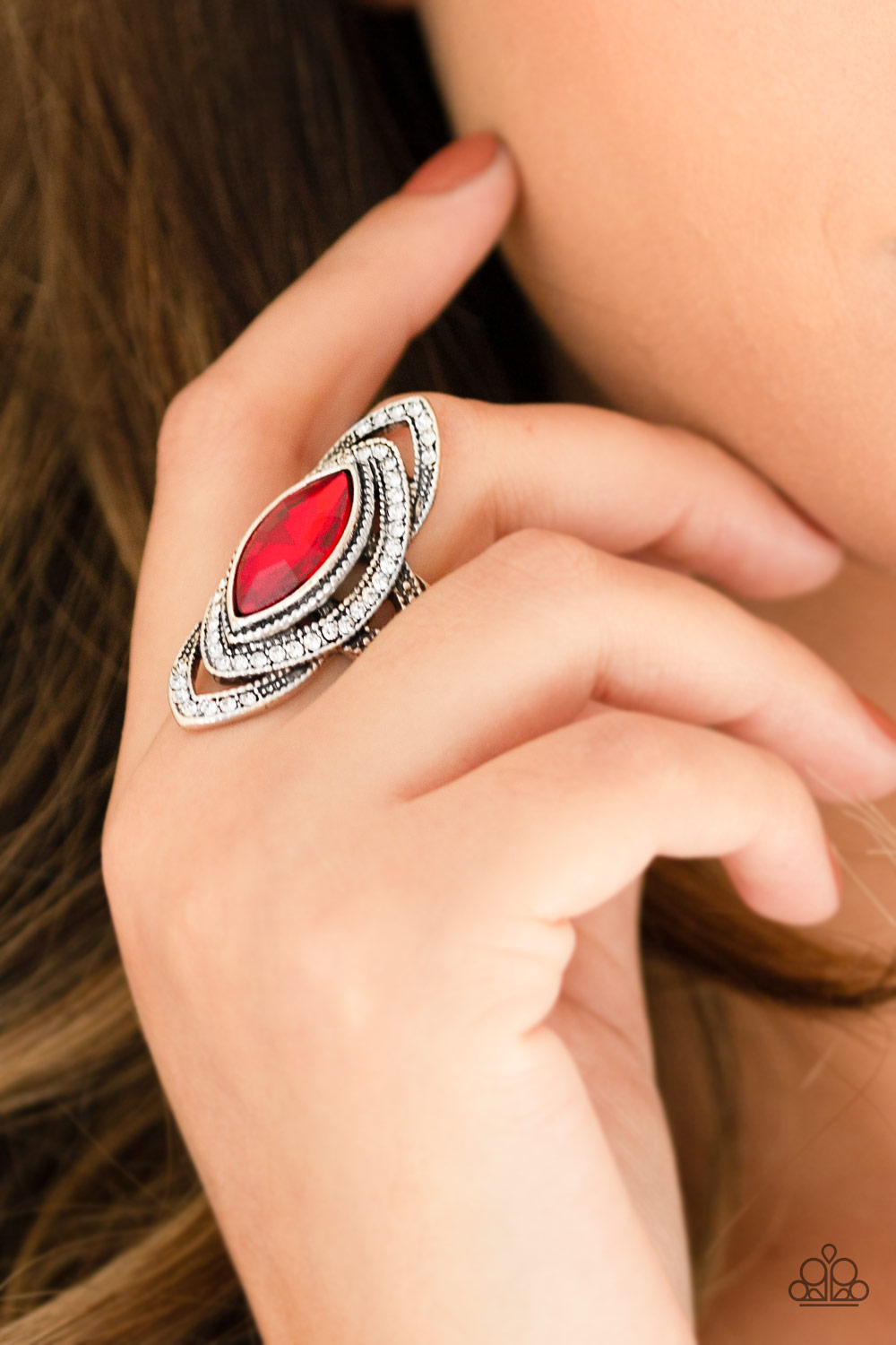 HOT Off The EMPRESS - Red Rhinestone Ring by Paparazzi $5.00 www.my-bling.com