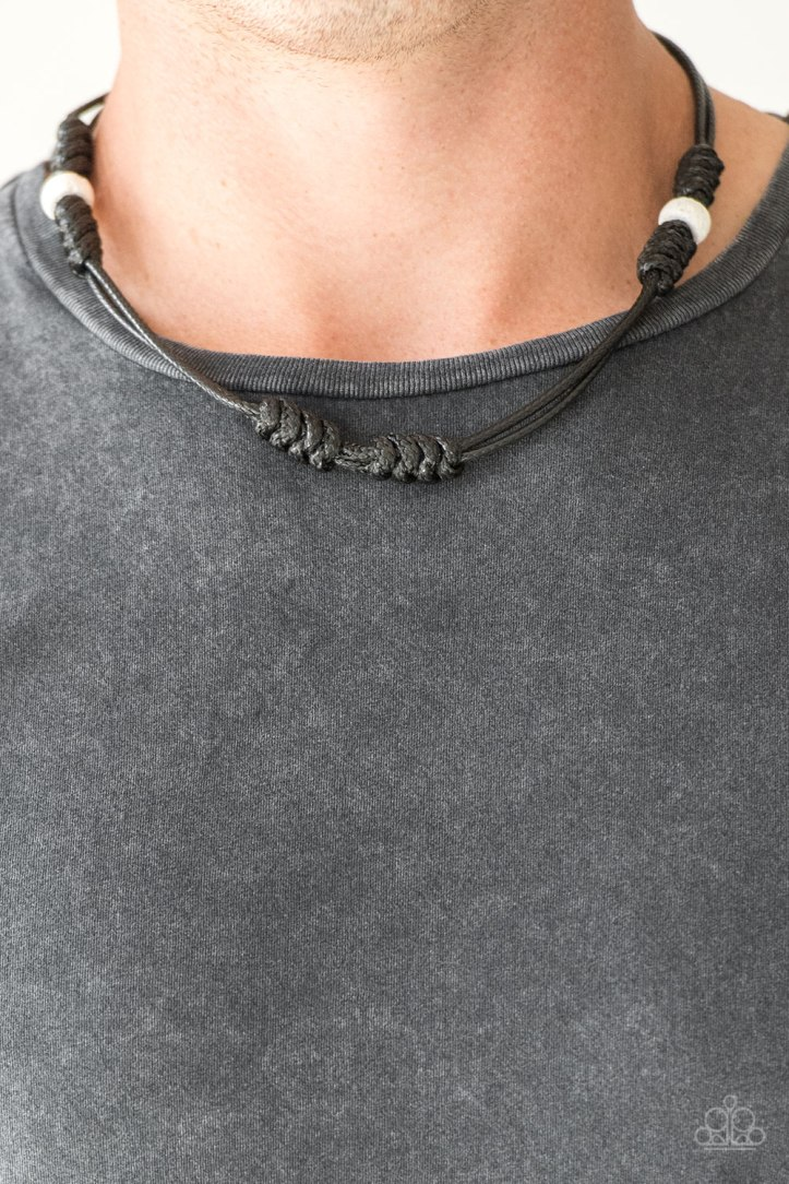 River Rover Black Necklace for Men by Paparazzi $5.00 www.my-bling.com