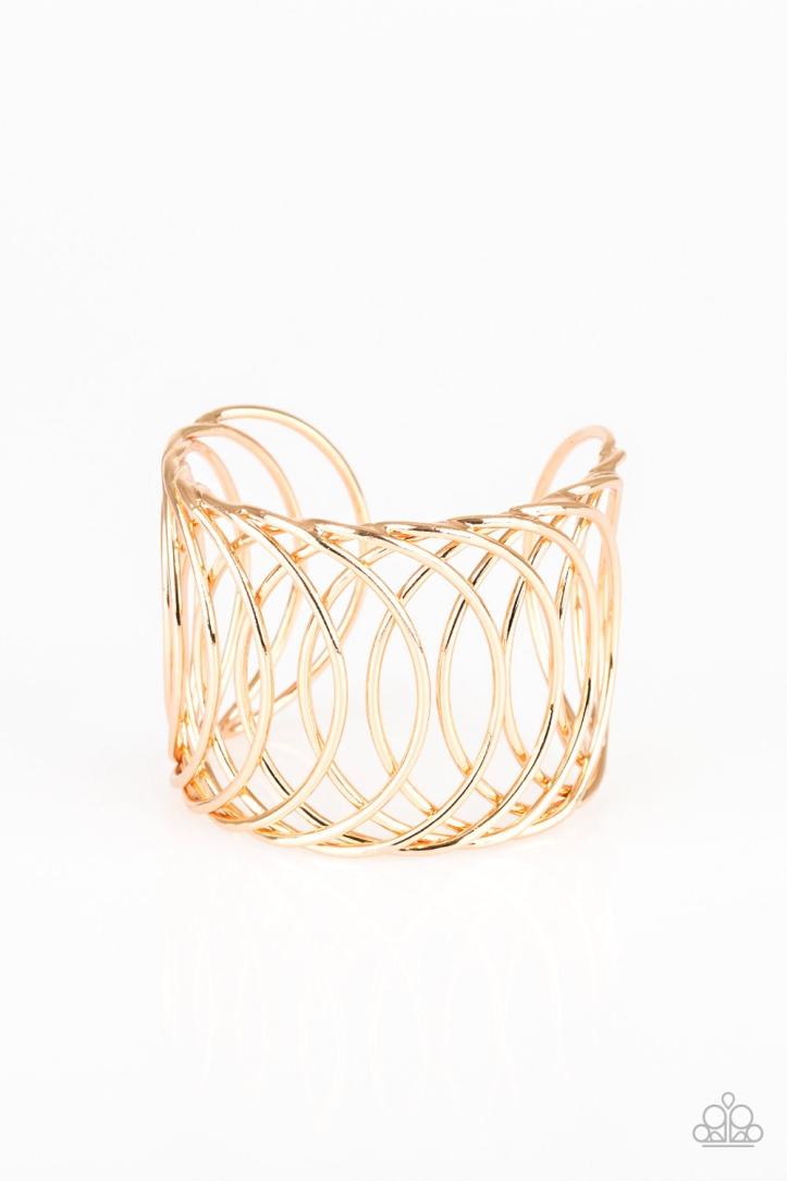 Dizzyingly Diva Gold Bracelet by Paparazzi $5.00 www.my-bling.com
