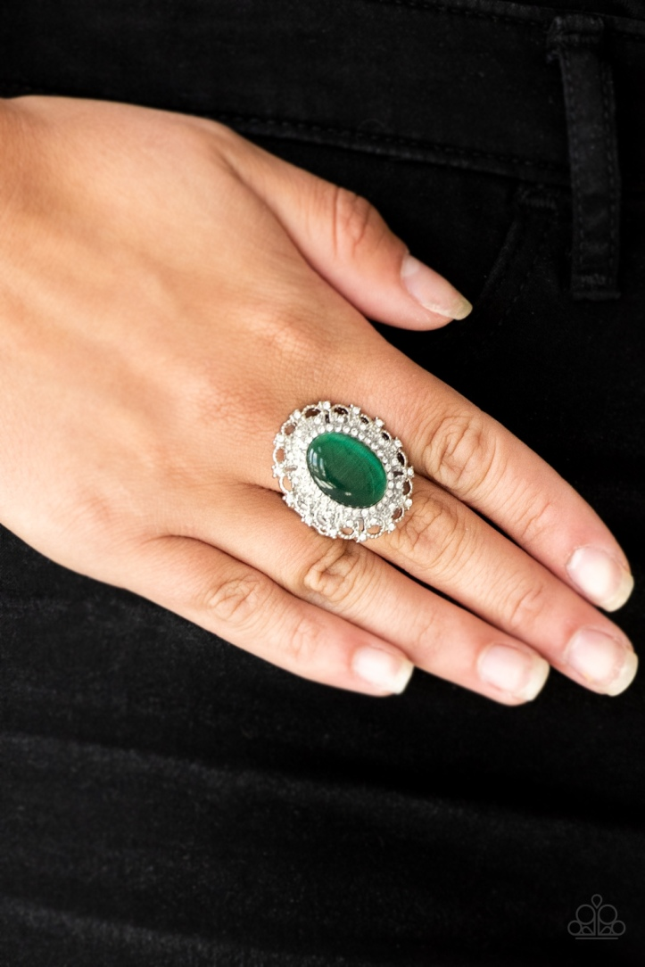 BAROQUE the Spell - Green Ring by Paparazzi $5.00 www.my-bling.com