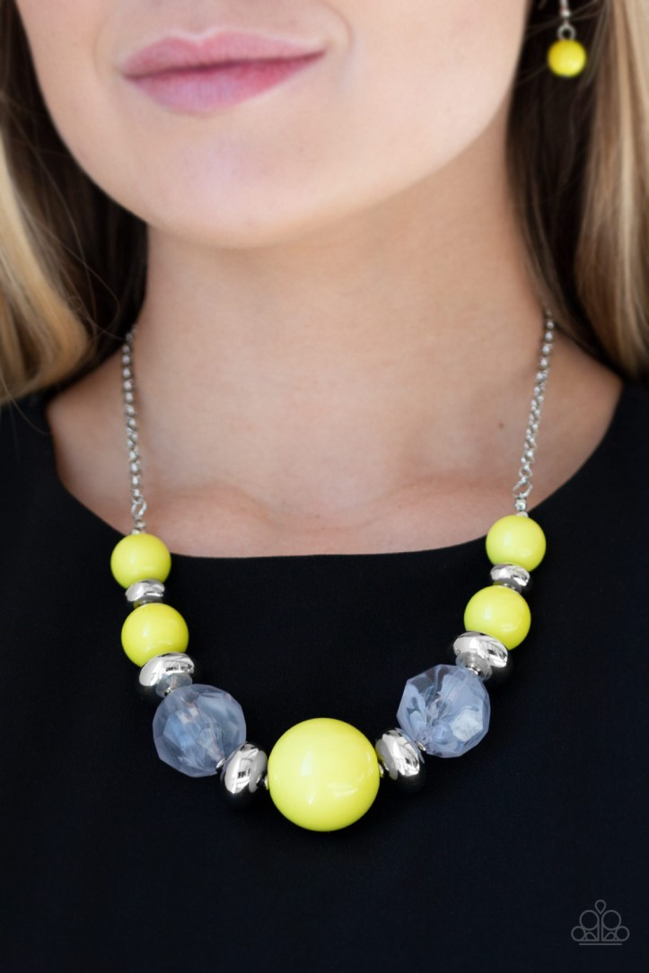 Daytime Drama - Yellow Necklace by Paparazzi $5.00 www.my-bling.com