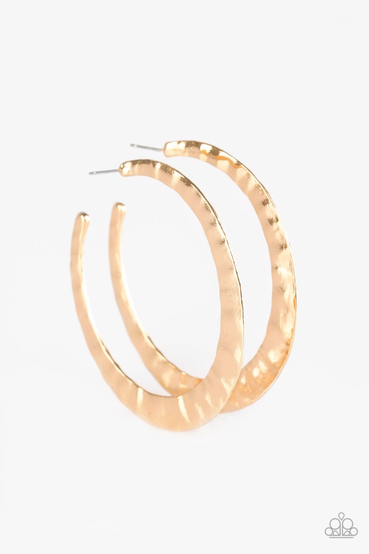 "Slayers Gonna Slay Gold Hoop Earrings by Paparazzi 2 1/2"" Diameter $5.00 www.my-bling.com"