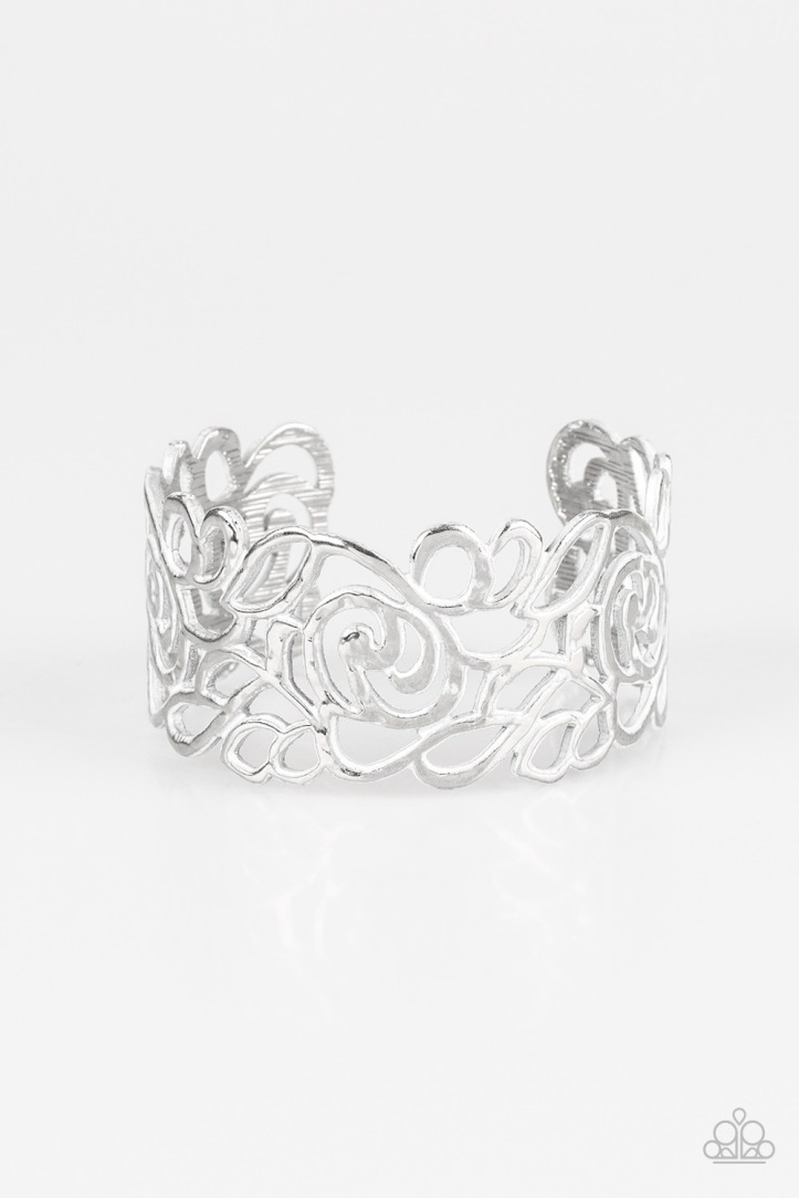 Victorian Gardens - White Bracelet by Paparazzi $5.00 www.my-bling.com
