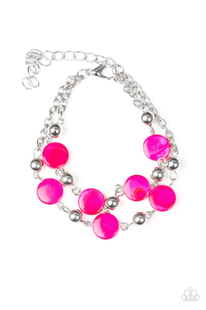 One BAY At A Time - Pink Bracelet by Paparazzi $5.00 www.my-bling.com