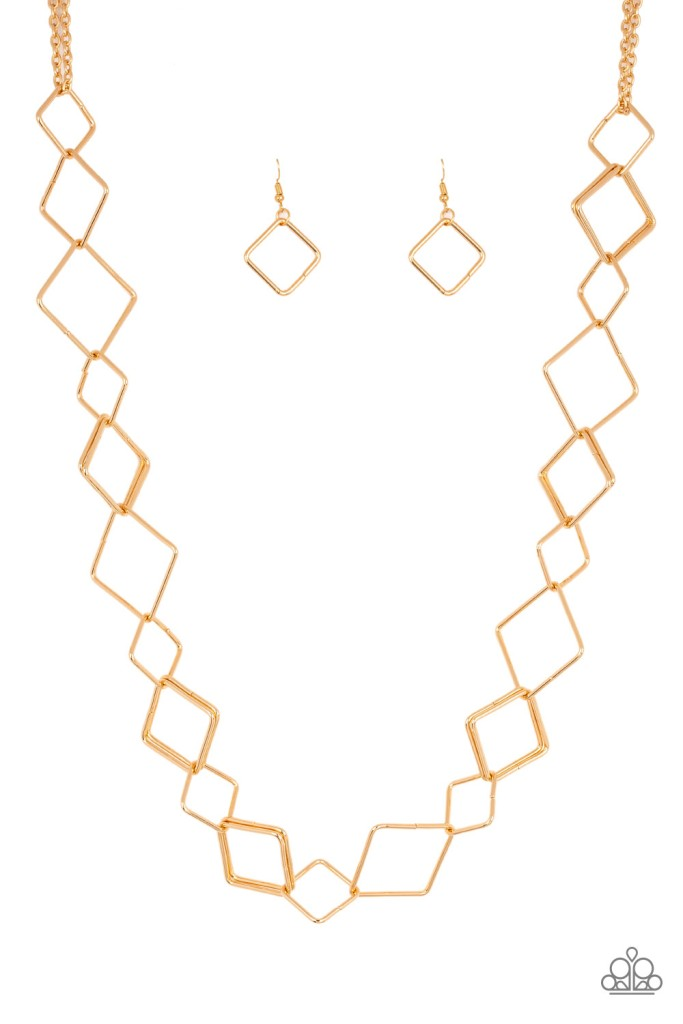 Backed Into A Corner Gold Necklace by Paparazzi $5 www.my-bling.com