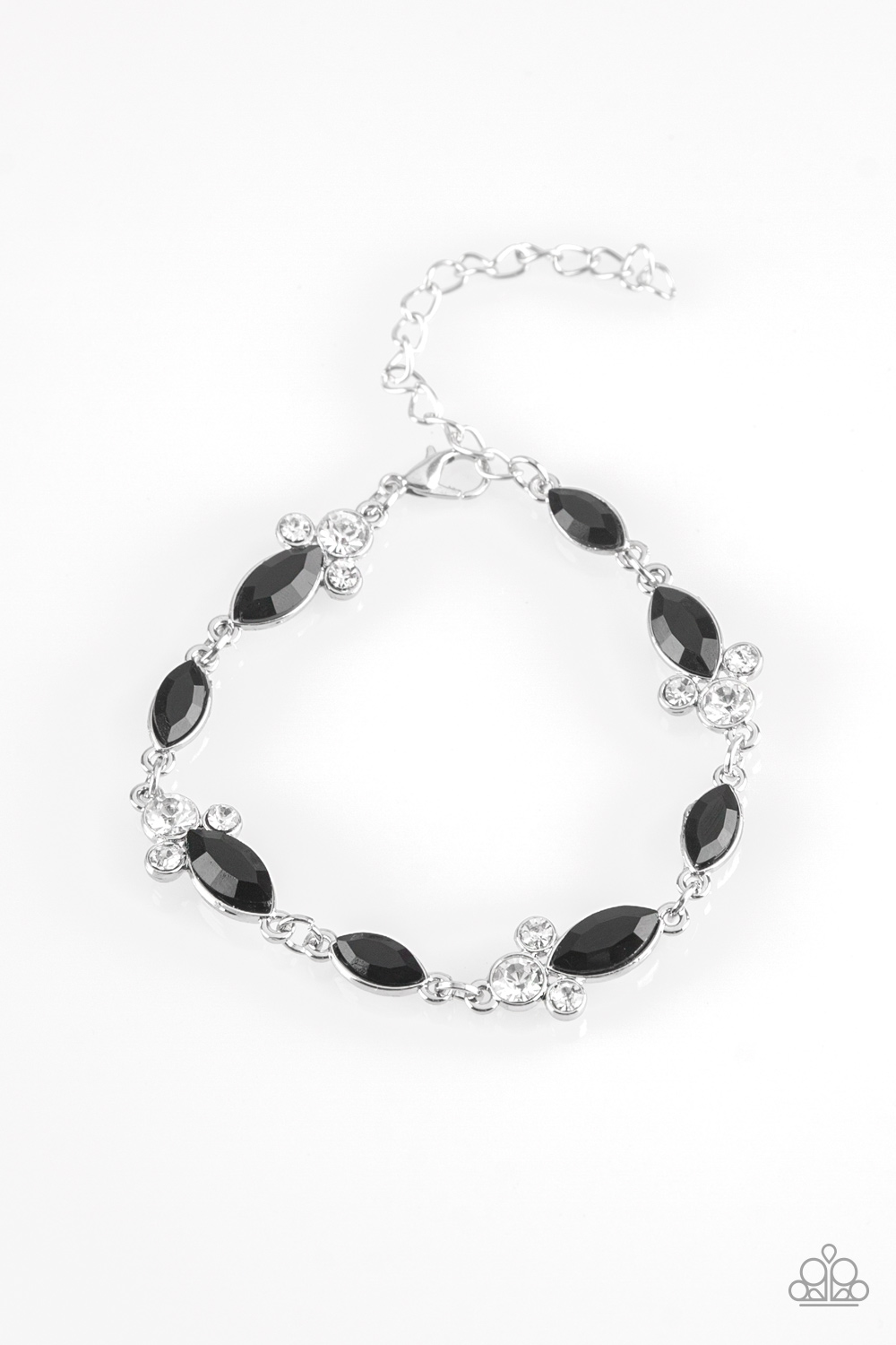 At Any Cost Black Rhinestone Bracelet by Paparazzi $5 www.my-bling.com