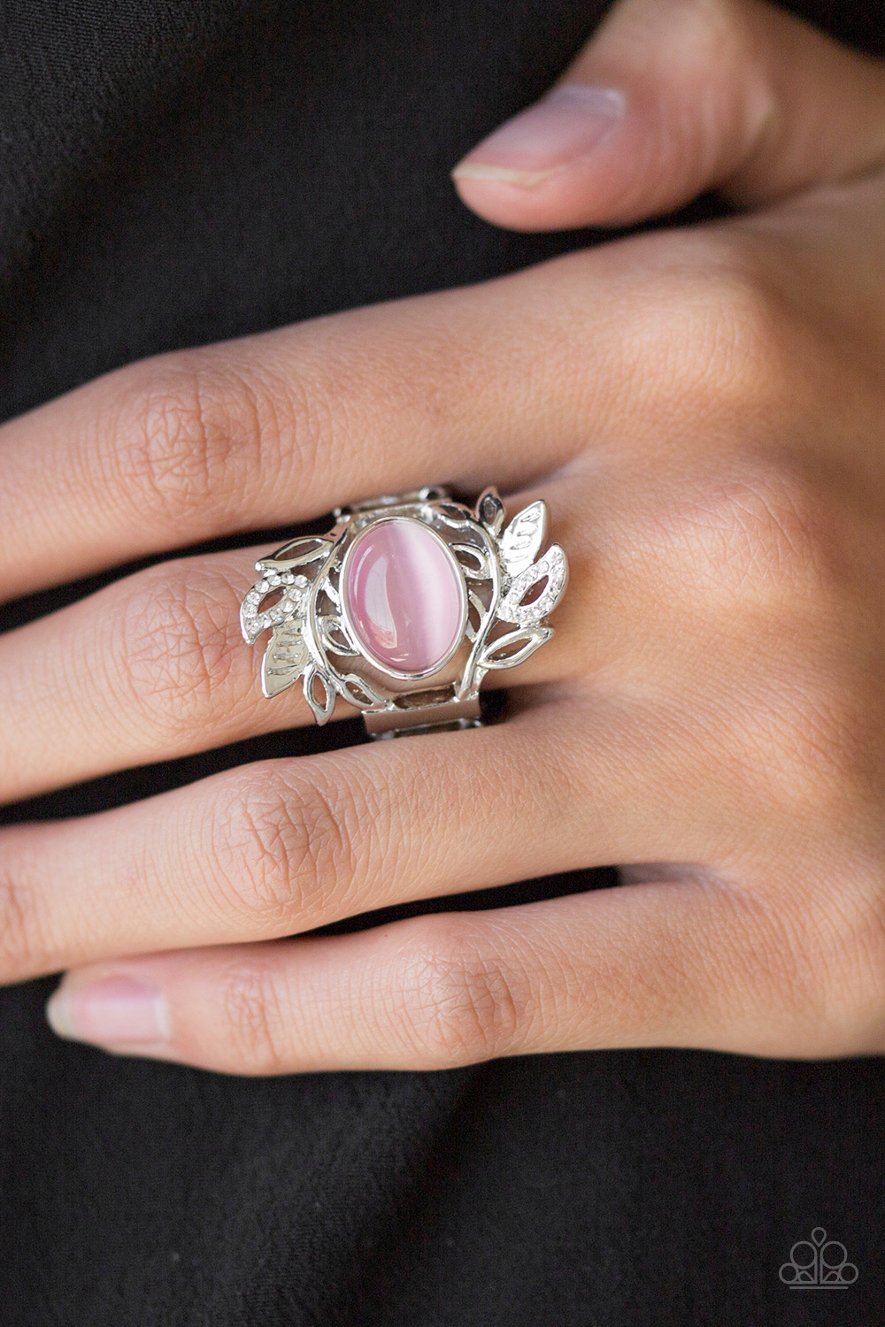 Pink Moonstone Ring by Paparazzi $5 my-bling.com