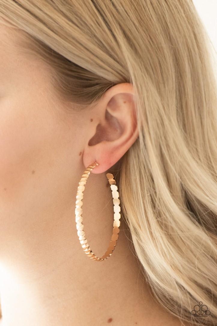 Gold Hoop Earrings $5 my-bling.com