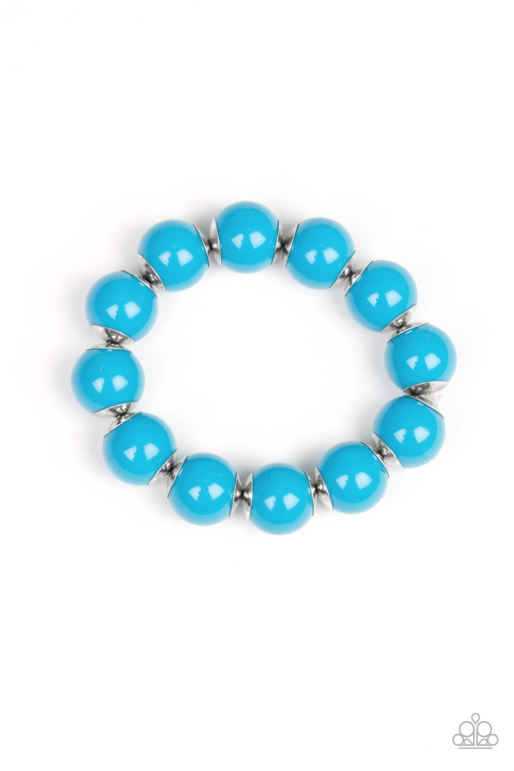 Candy Shop Sweetheart blue beaded bracelet by Paparazzi $5 my-bling.com