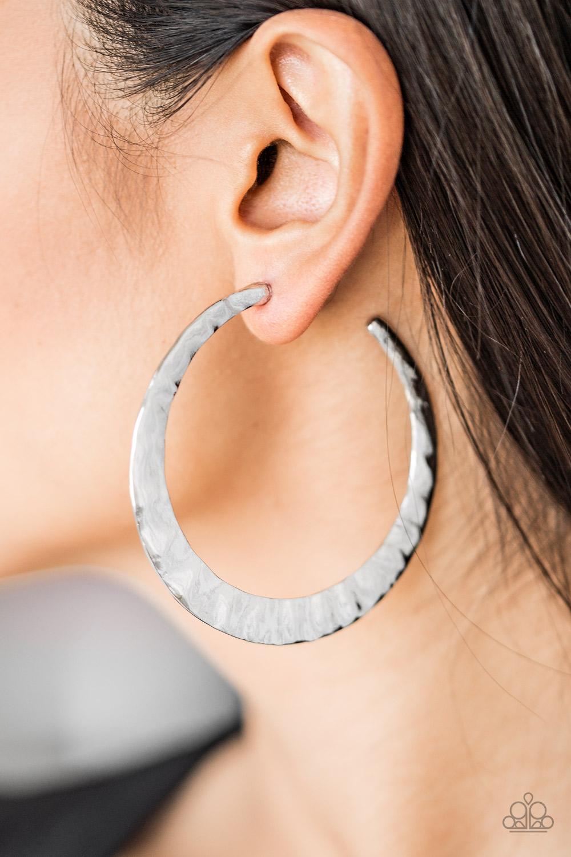 Silver Hoop Earrings by Paparazzi $5 www.my-bling.com