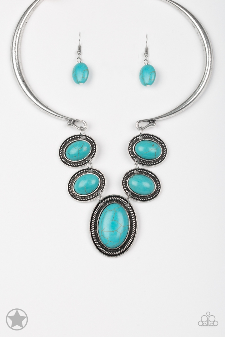 Bold Statement Turquoise Necklace by Paparazzi $5 www.my-bling.com
