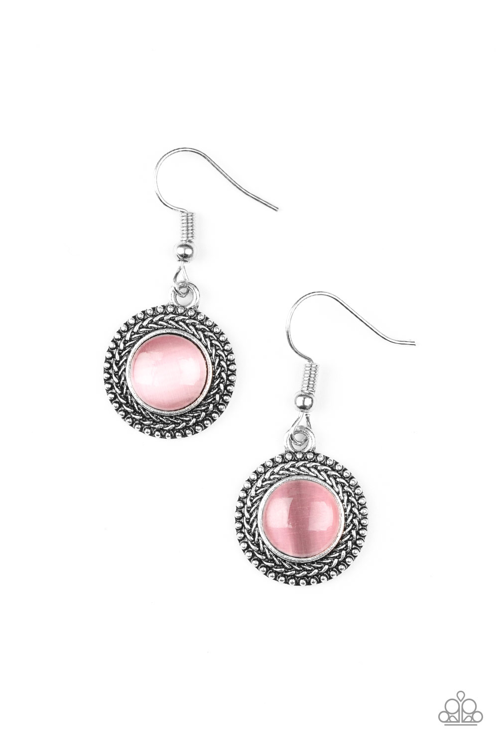 Pink Moonstone Earrings by Paparazzi $5 my-bling.com