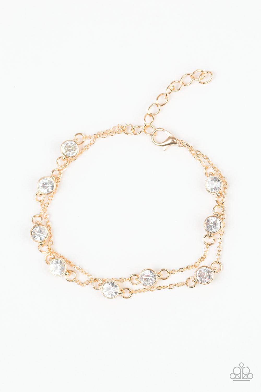 Gold and Rhinestone Bracelet $5 my-bling.com