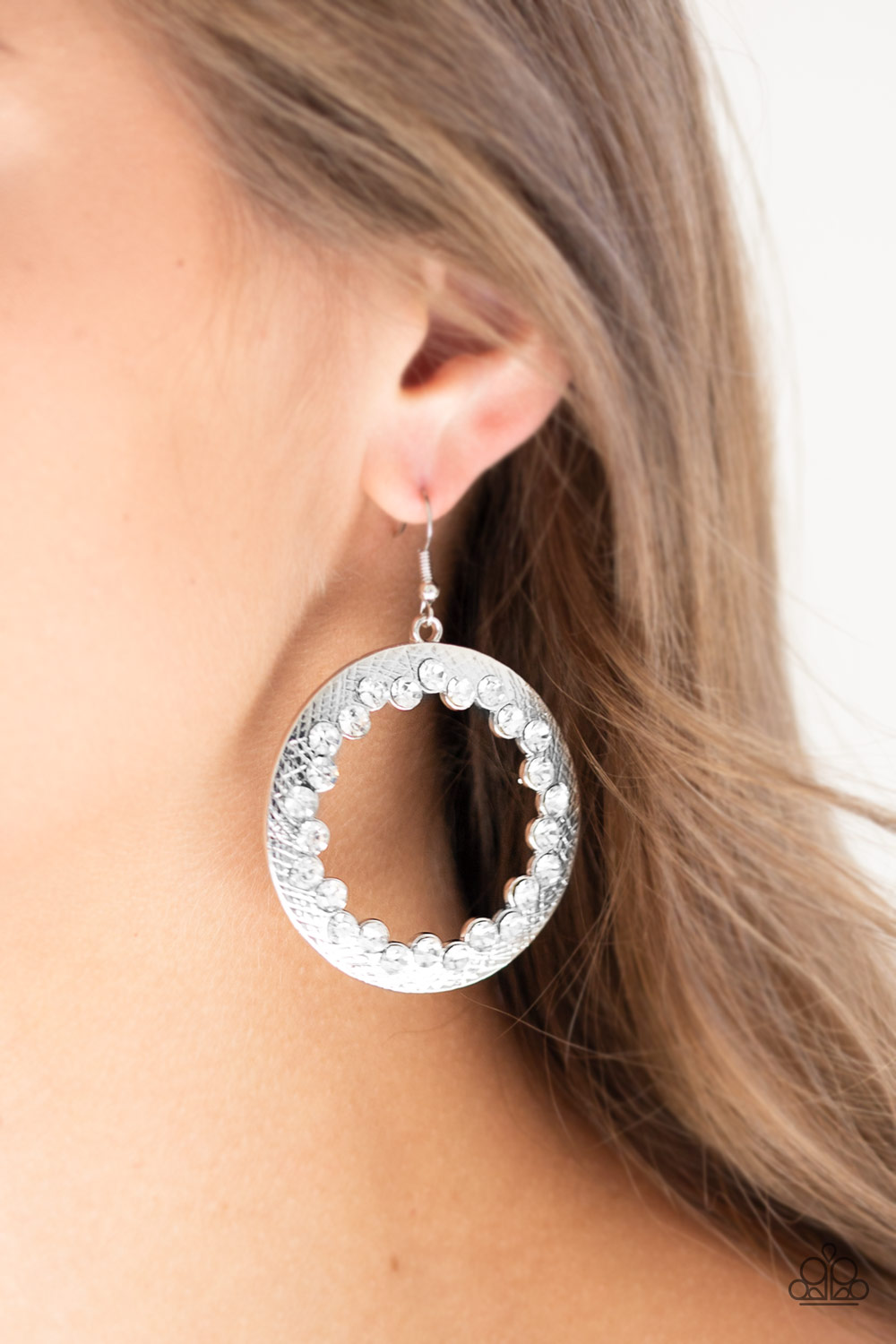 Silver and Rhinestone Earrings by Paparazzi $5.00 www.my-bling.com
