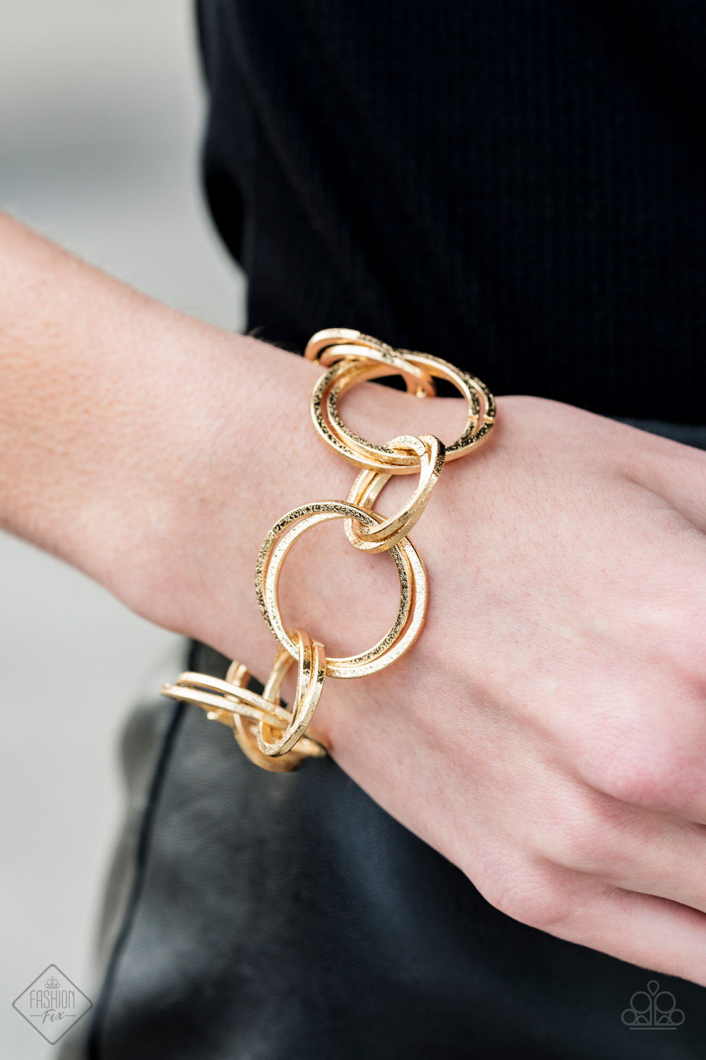Gold Rings Bracelet by Paparazzi $5.00 my-bling.com