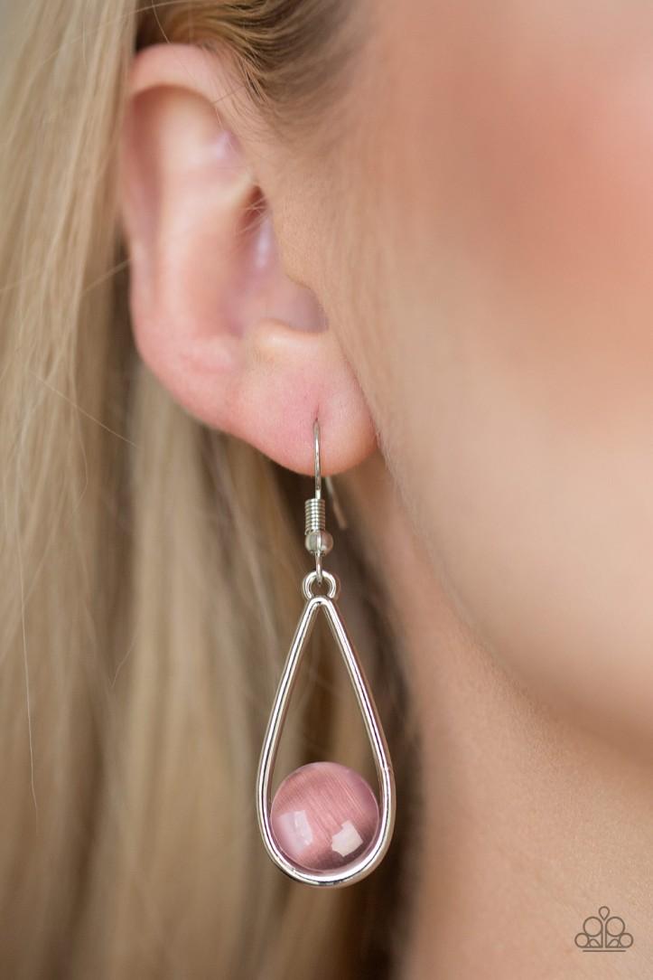 Purple Moonstone Earrings by Paparazzi $5 my-bling.com
