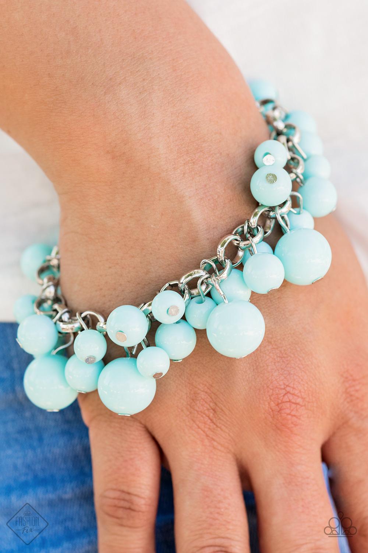 Sky Blue beaded bracelet by Paparazzi $5 my-bling.com