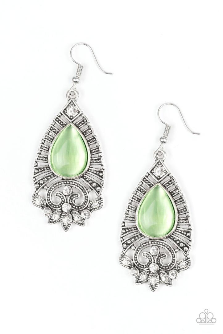 Majestically Malibu Green Earrings