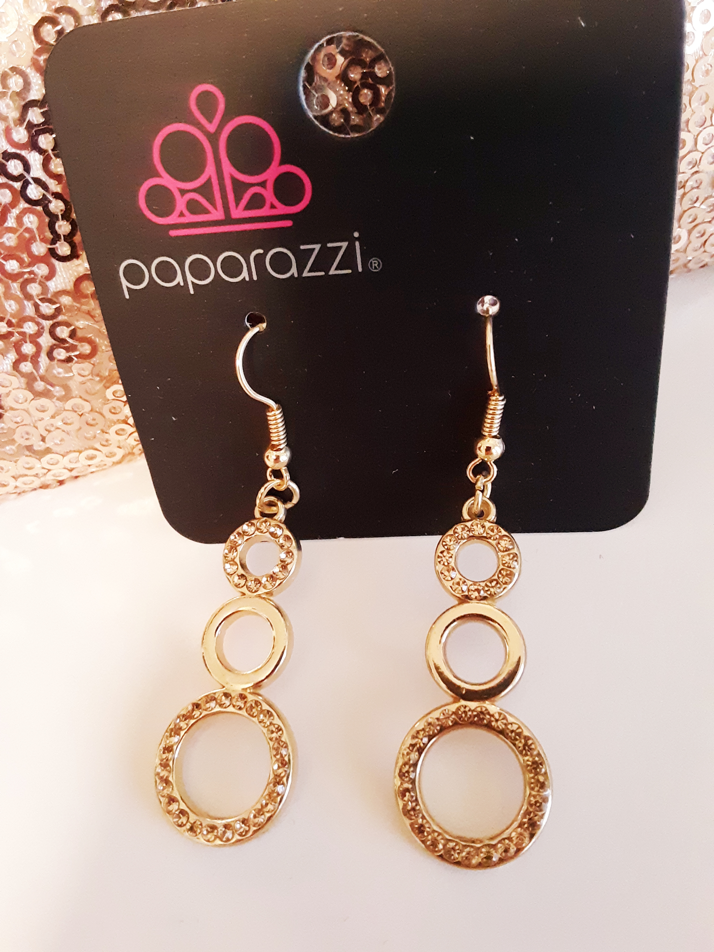 Bubble Bustle Gold Earrings $5