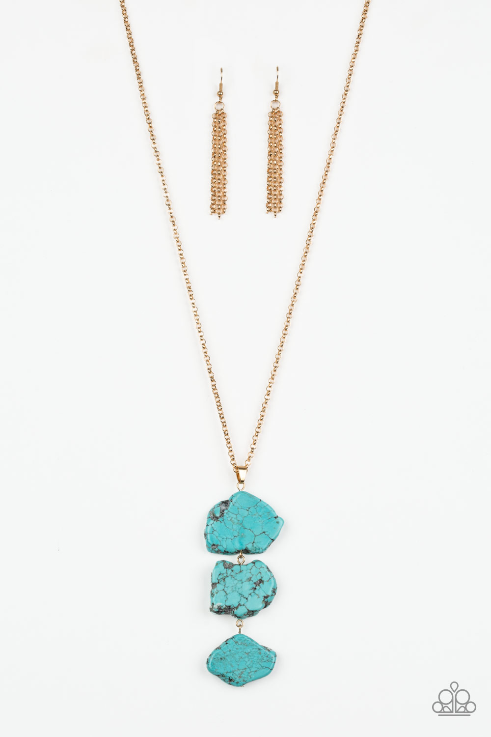 All natural turquoise necklace from Paparazzi $5 my-bling.com item # P2SE-GDBL-074XX