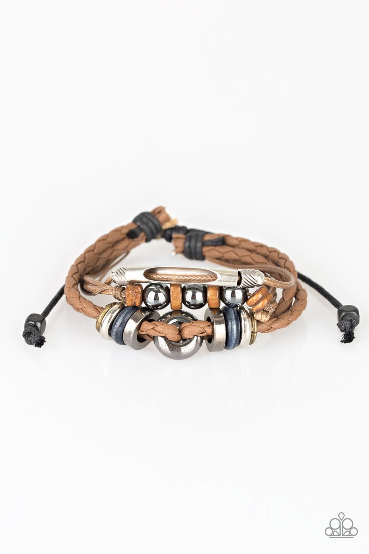 Men's Leather and Beaded Bracelet $5 my-bling.com