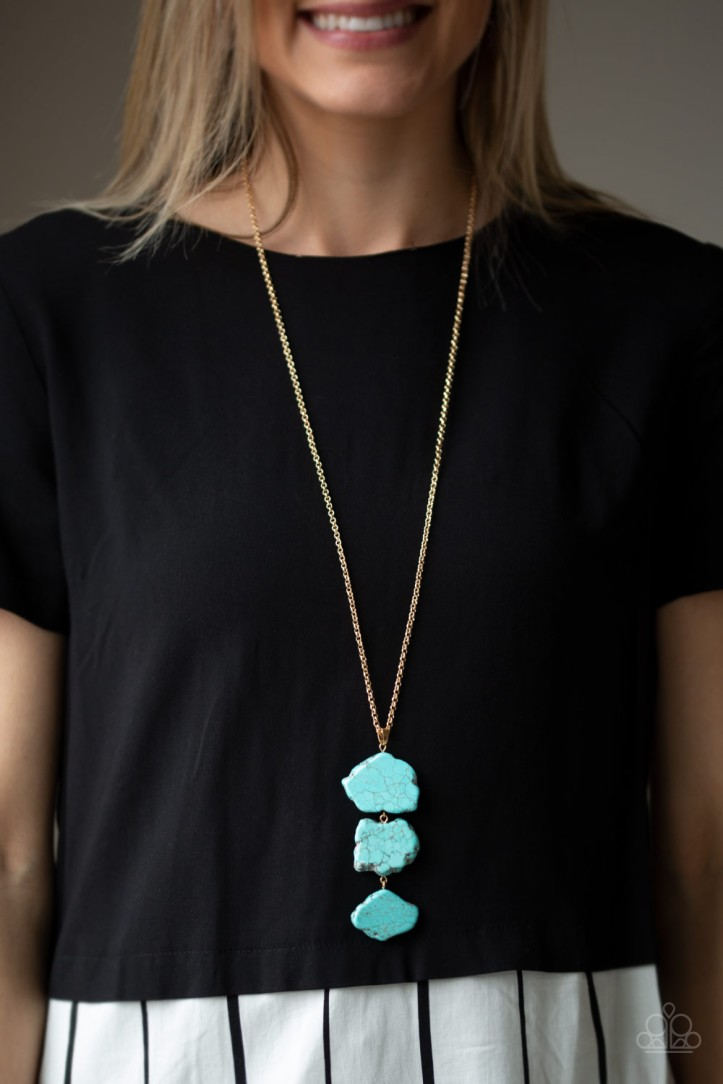 All natural turquoise necklace from Paparazzi $5 my-bling.com