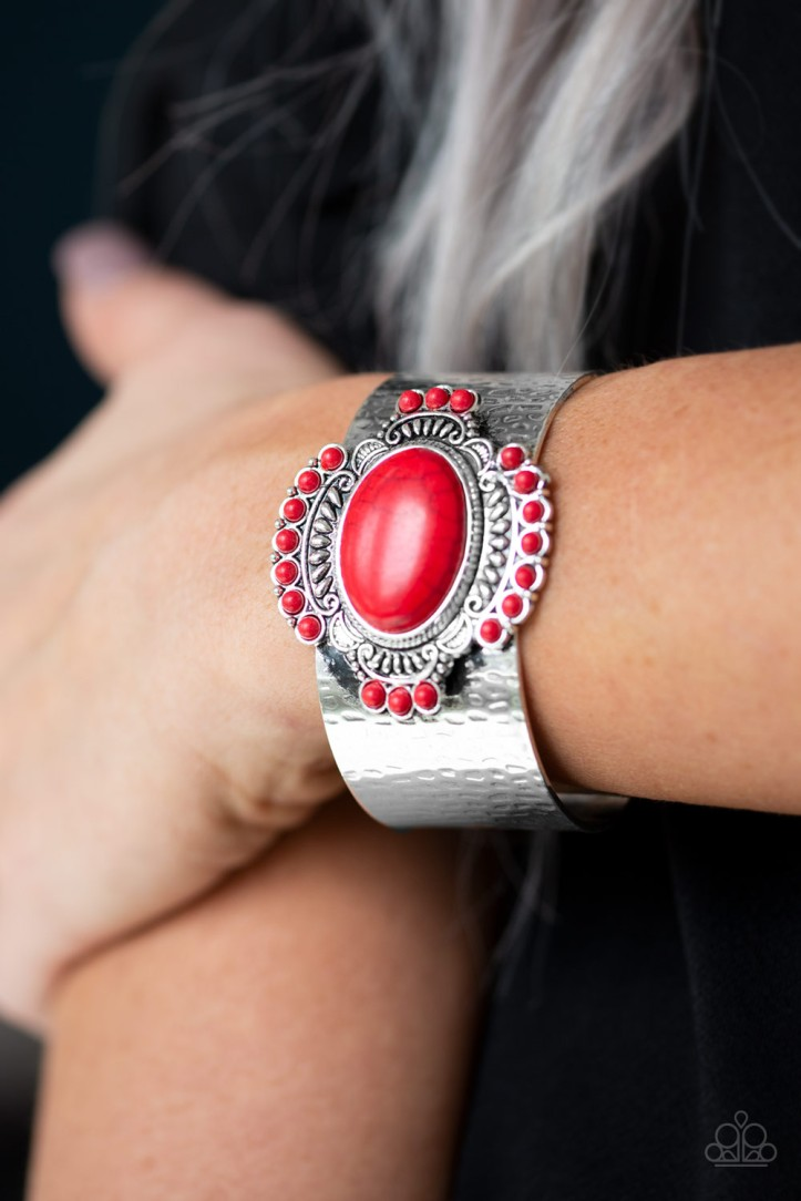 Canyon Crafted Bracelet in Red by Paparazzi $5.00 www.my-bling.com